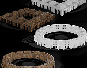 3D model Medieval Arena and Trade Center Set 01 R