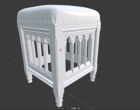 3D print model Gothic Chair