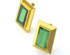 3D print model Earrings with Emeralds BS082