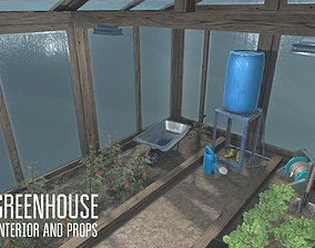 Greenhouse - interior and props 3D model