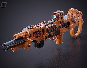 Sci-fi LMG Gun 3D asset