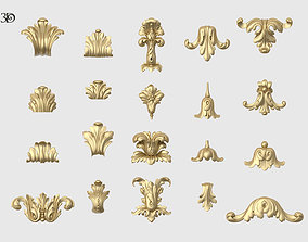 Vertical Leaves Collection 3D printable model