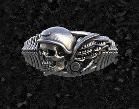 3D print model Skull-ring 2