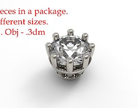 Jewelry Prong Head Set Package 3D printable model 1