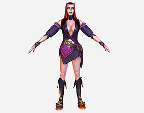 Game MMO RPG Character Armored Succub Women 3D model