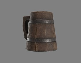 Wooden Historic Tankard 3D model low-poly