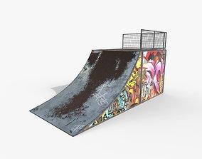 Small Skate Ramp PBR 3D asset