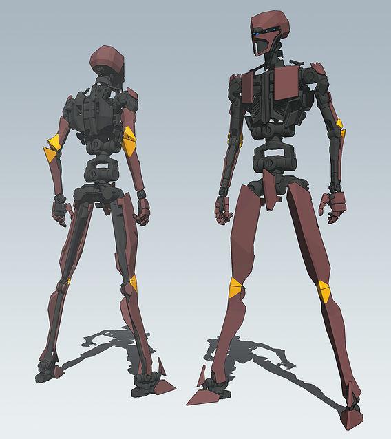 crimson robot
