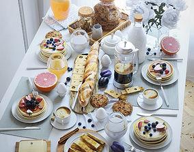 3D model Table setting - Breakfast 1
