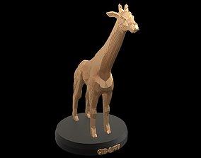 3D model game-ready Parametric Giraffe