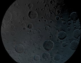 Moon surface craters 3D