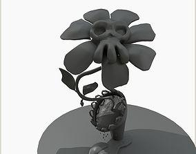 zomby plant poisonous flower 3D