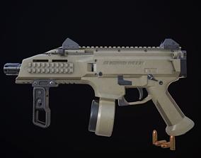 CZ Scorpion EVO 3 S1 Pistol 3D model low-poly