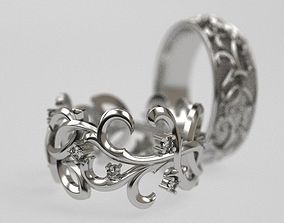 Queen Thistle wedding ring - original 3D print model