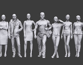 3D asset Lowpoly People Casual Pack Volume 13