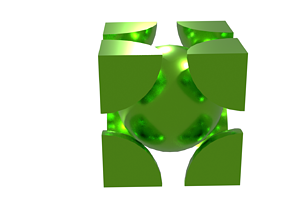 BODY CETERED CUBIC LATTICE 3D
