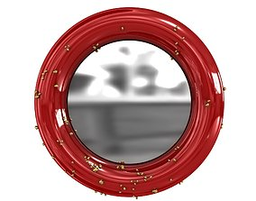Belize round modern mirror brabbu 3d model