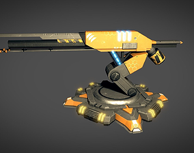 Rail Gun Turret 3D model
