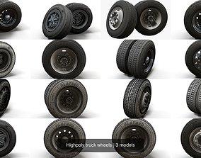 3D Highpoly truck wheels