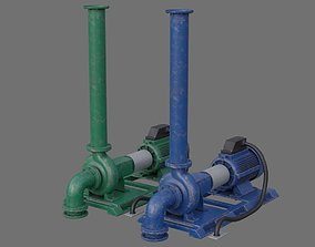 Water Pump 2B 3D asset