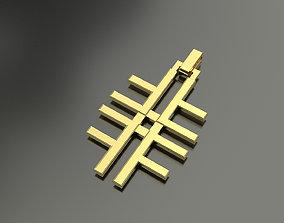 Pinwheel Letter F Necklace 3D printable model