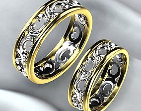 Wedding Golden Rings 3D print model