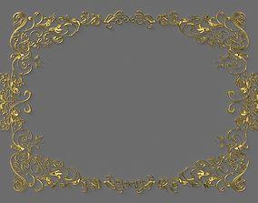 barocco ornamental frame 3D model