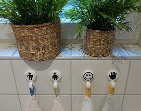 3D print model Bathroom towel holder hook dual color