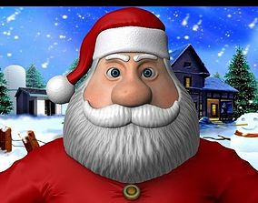 3D asset Cartoon santa claus