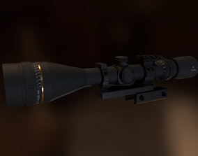Rifle Scope 3D model game-ready
