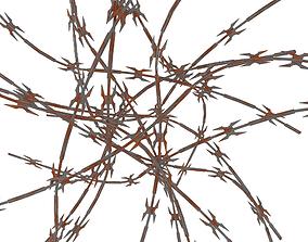 3D asset Razor Wire Weathered