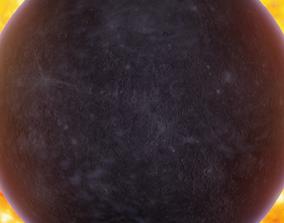 3D Photorealistic Mercury-Transparent Background