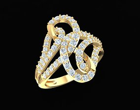 diamond ring for women 1776 3D print model