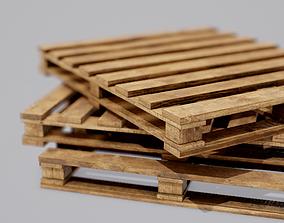 3D asset VR / AR ready PBR Wood Pallet