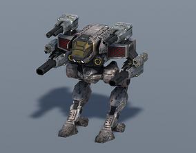 3D model animated Spectre BattleMech