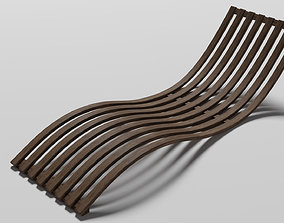 beach Sunbed 3D model