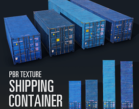 Shipping Container Pack 3D model VR / AR ready