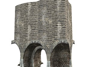 3D model Gatehouse 01 Aqueduct Circle Pillar 06