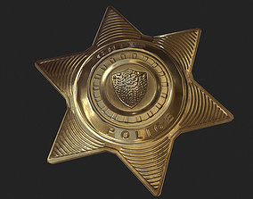 Police Badge 3D asset low-poly