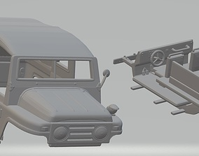 Austin Champ Military Jeep Printable Body Car