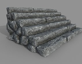 3D model Rock Stairs PBR