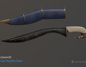 Ancient Greek Persian Kopis Sword 3D