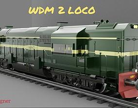 3D Railway Locomotive Engine