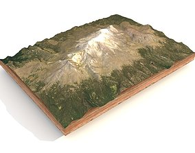 3D model Mountain landscape Iztaccihuatl Volcano Central 2