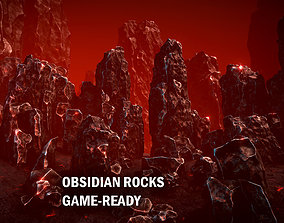 3D model Obsidian rocks