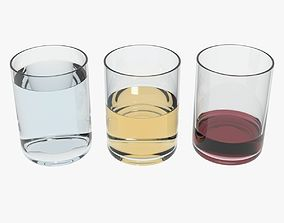3D model Glasses Transparent Liquids
