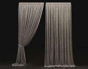 3D model Curtain Biege-8