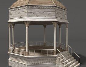 Gazebo exterior summerhouse 3D