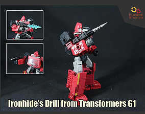Ironhide Drill from Transformers Generation 3D print model