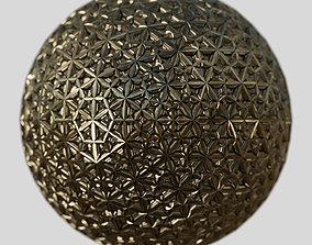 3D model Gold sphere